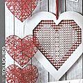 Broderie suisse : coeur d'amour ou d'amitié