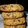 Cookies aux flocons d'avoine & chunk chocolat noir