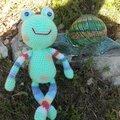 La grenouille aux membres multicolores