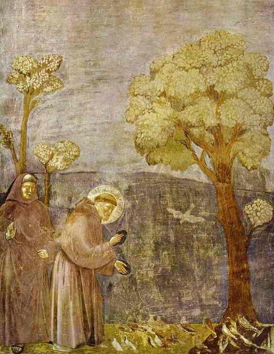 Saint François prêche aux oiseaux