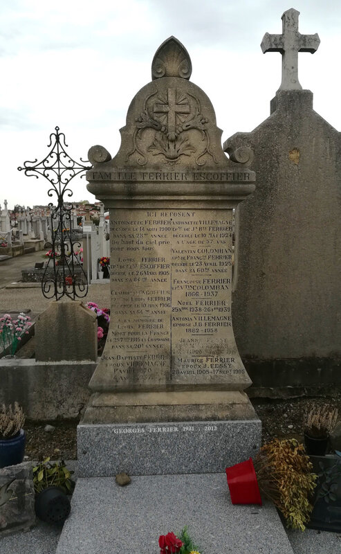 à la mémoire de Louis Ferrier (tombe)