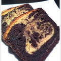 Cake marbré praliné/chocolat pour un goûter gourmand !