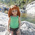 Louane à la rivière