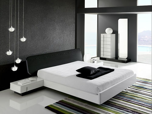 chambre design noir blanc - Photo de chambres design - deco design