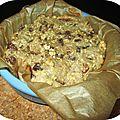 Gâteau aux <b>fruits</b> <b>secs</b>, idéal au petit déj ou en collation sportive.