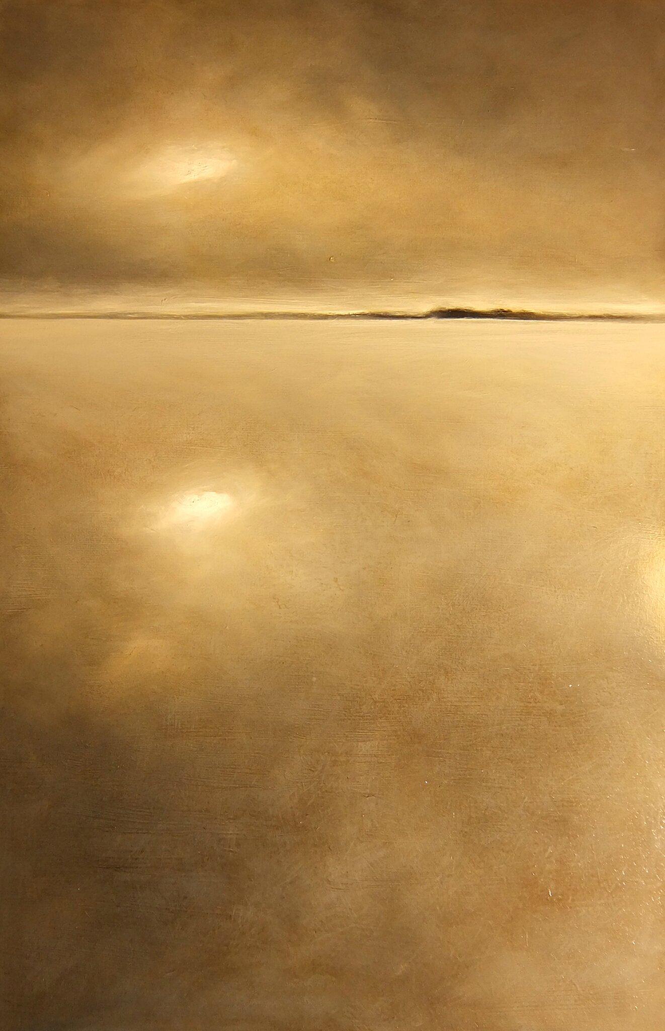 Horizon/Elévation #1, 2015, huile sur bois, 80 x 122 cm.