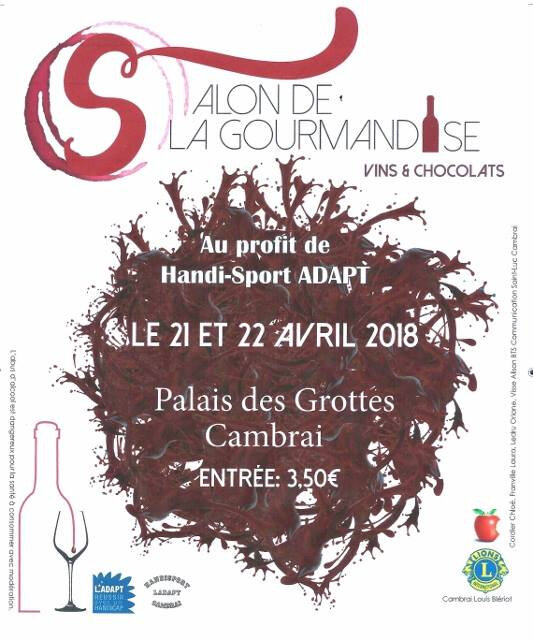 Affiche salon de la Gourmandise Cambrai 2018