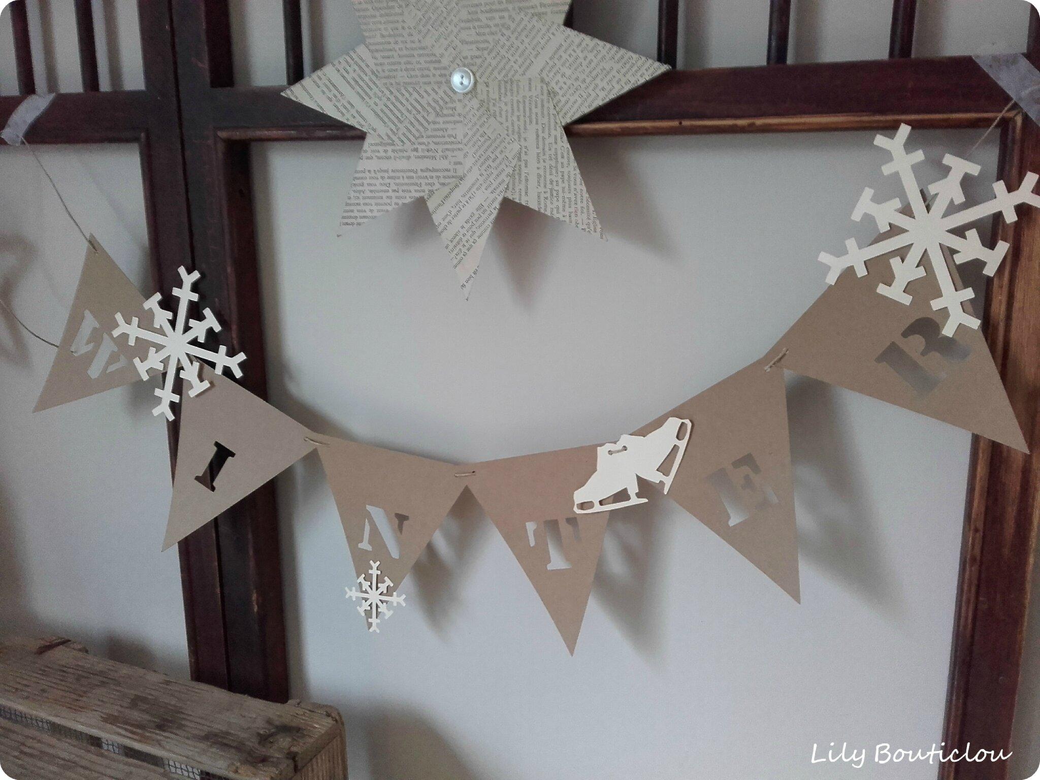 guirlande fanions carton pennant garland cardboard lilybouticlou