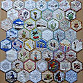 Challenge hexagone de laurence sur france patchwork