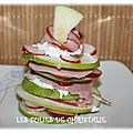 Mille-feuilles pomme bacon