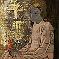 Alix Aymé (1894 – 1989), Young Vietnamese woman in a garden, <b>circa</b> <b>1940</b>