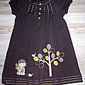 Robe broderies appliquées, 2 ans
