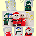 Mini christmas characters