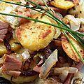 Poêlée d'endives-pommes de terre-jambon vendéen