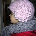 Phildar bonnet à fleur