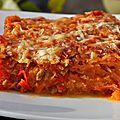 Gratin de Courge Spaghetti à la Bolognaise