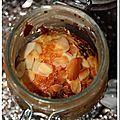 Cakes aux figues sèches et magret séché en bocaux