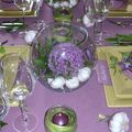 Table mauve verte