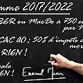 Emmanuel macron explique son programme aux enfants
