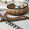 <b>Bracelets</b> Manchette automnal et petits <b>bracelets</b>