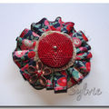 Broche liberty wiltshire rouge