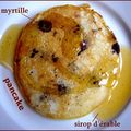 buttermilk pancakes aux myrtilles