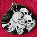 Porte-monnaie Skull & Roses
