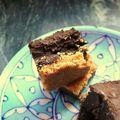 Carrés ganache chocolat noir- lait de coco- pâte de cajou....