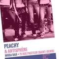Affiche du concert rock Antisphère & Peachy samedi 20 janvier au