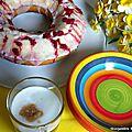Bundt cake au lben, citron eclats de framboises
