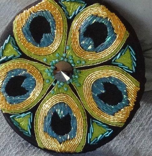 miroir design plumes de paon