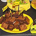 Sweet table batman - etape 3 : les brownies