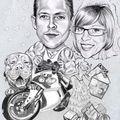 Caricatures artistique Faire-part mariage