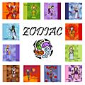 Cartes carrées ZODIAC
