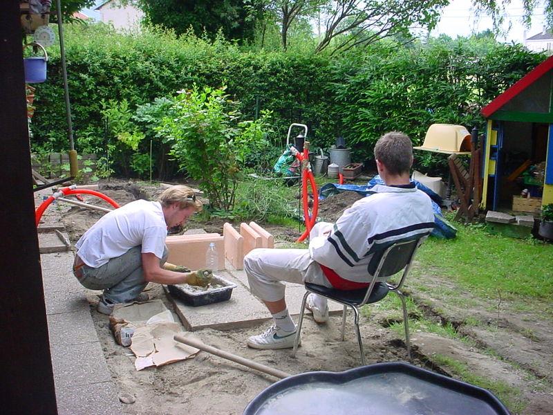terrasse brassage du mortier