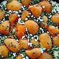 Gâteau abricot pistache