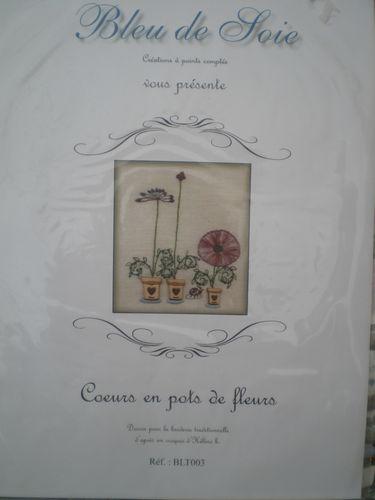 Coeurs en pots de fleurs de Bleue de Soie
