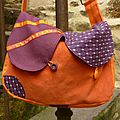 Sac orange et prune