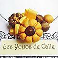 Les yoyos de calie - collier fleurs potirons moïra luna