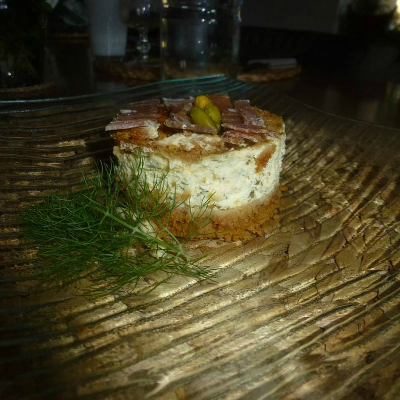 Cheesecakes aux herbes