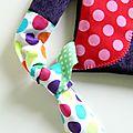 sac hibou violet velours