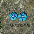 Boucles d'oreille Fleurs bleues (43)