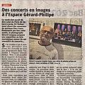 Mon exposition de photos de <b>concerts</b> à Jarny annoncée dans la presse locale ce vendredi