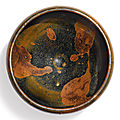 A russet-splashed <b>black</b>-glazed bowl, Yuan dynasty (1279-1368)