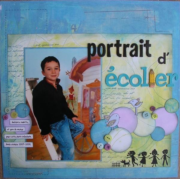 portrait d'écolier