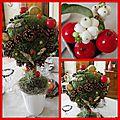 table petit arbre d'automne mosaique