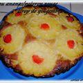 Gateau ananas/pommes au poivron rouge et sirop de gingembre