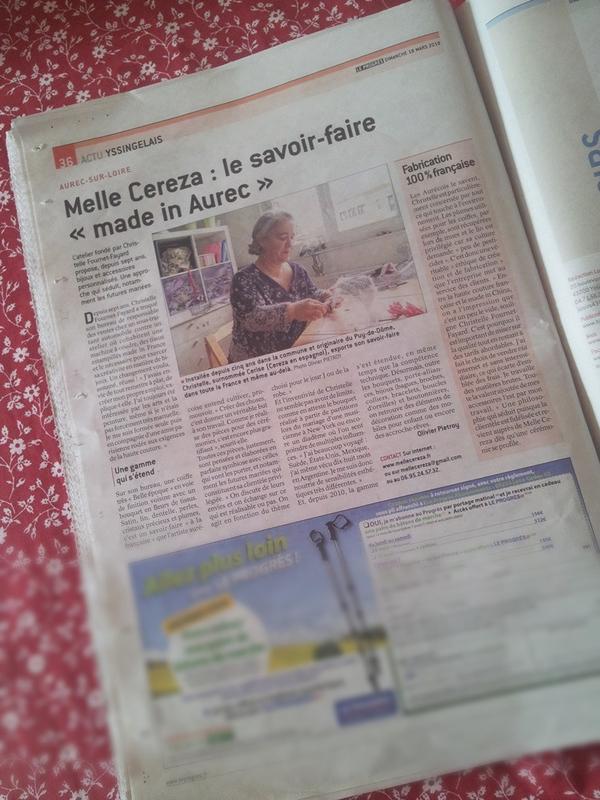 Aurec-sur-Loire Melle Cereza le savoir-faire «made in Aurec» vue journal