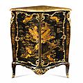 Rare et importante encoignure formant secrétaire. Attribuée à <b>Jacques</b> <b>Dubois</b>. Époque Louis XV, circa 1750