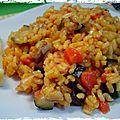 Paella aux légumes - paella de verduras